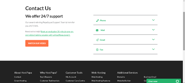 Hostpapa Support: Contact Us