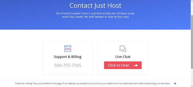 Just Host Support: Contact Just Host