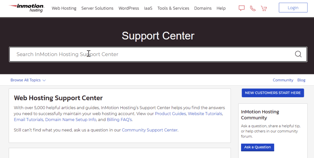 InMotion Support: Center