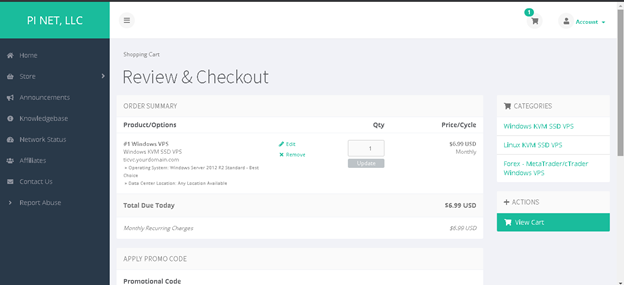Order Hosting From PiVPS: Review & Checkout