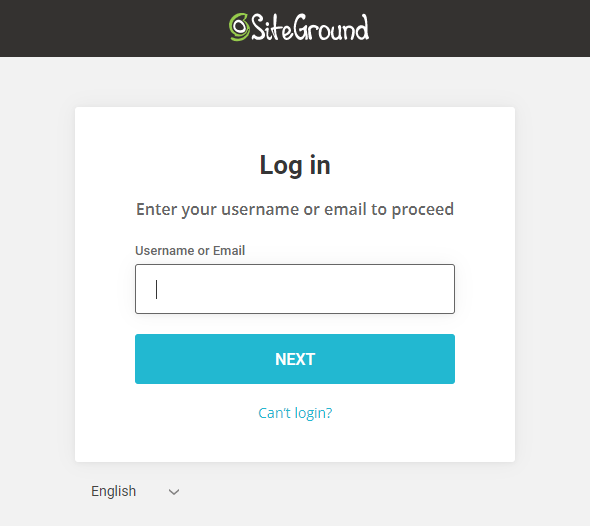 Enter the Username or Email then, click on Next option.